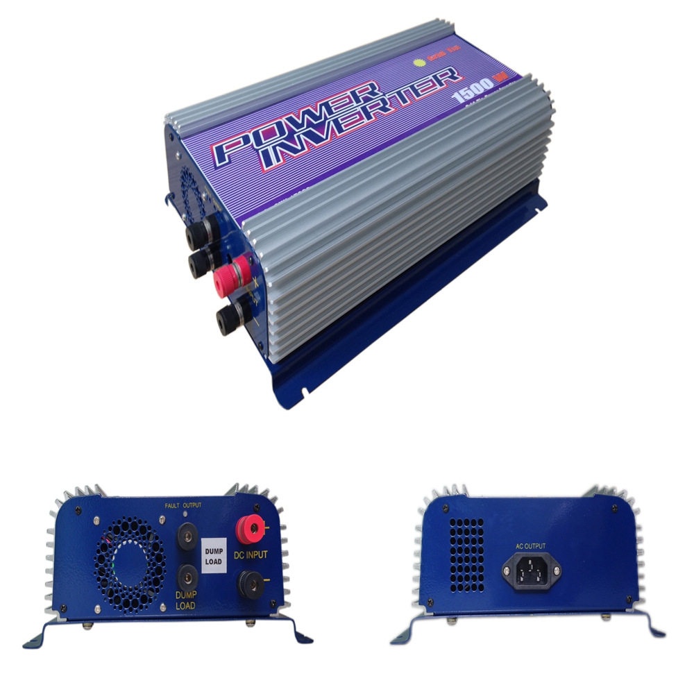 1500W Grid Tie Power Inverter for 3 Phase DC To AC 45V-90V Input Wind Turbine MPPT Pure Sine Wave Inverter Build In Rectifier<br><br>Aliexpress