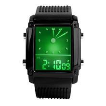 Newly Design Fashion Unisex Womens Mens Digital Led Chronograph Silicone Rubber Band Quartz Sport Wrist Watch 160223