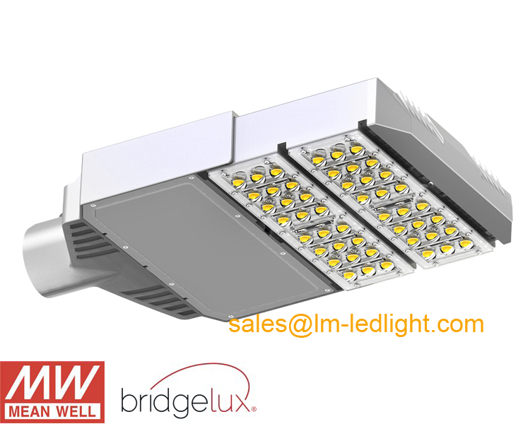 60W led street light daylight white 220V 230V 240V MeanWell LED driver Bridgelux 45mil LM-80 outdoor lighting free shipping DHL(China (Mainland))