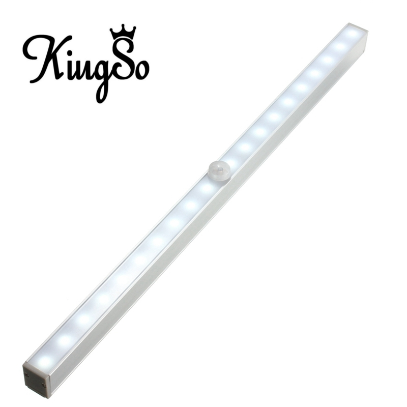 Best Price Kingso 20 LED Wireless PIR Motion Sensor Battery Power Cabinet Drawer Light Closet Cabinet Lamp Night Light LED Light(China (Mainland))
