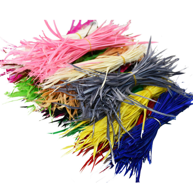Cheap for Sale 24pcs Colorful American Indian Headdress Hair Extend Goose Feather Wedding Decorations Elegant Feathers IF6(China (Mainland))