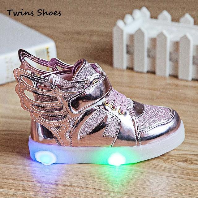 2016 новых весна осень детская обувь водить девочек свет кроссовки мальчики кроссовки ...