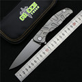 Green thorn F95 Flipper folding knife bearing D2 blade TC4 Titanium handle outdoor camping hunting pocket