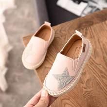 הגעה חדשה סתיו ריינסטון כוכב ילדים נעליים יומיומיות נעלי ילדי נעלי בנות מוקסינים להחליק על נעלי #8HX0830(China)