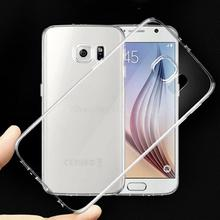 Ultra Thin Transparent Clear TPU Case For Samsung Galaxy S6 G9200 Crystal Back Protect Rubber Silicone Gel Mobile Phone Bags