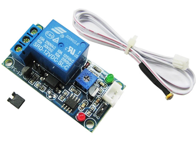 12V Stable Version Light-Operated Switch Matt Induction with Extension Cord Photoresistance Relay Module raspberry pi(China (Mainland))