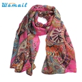 Womail Newly Design Women HOT Pink Navy Orange Chiffon Long Scarf Wrap Shawls Junly13 Drop Shipping