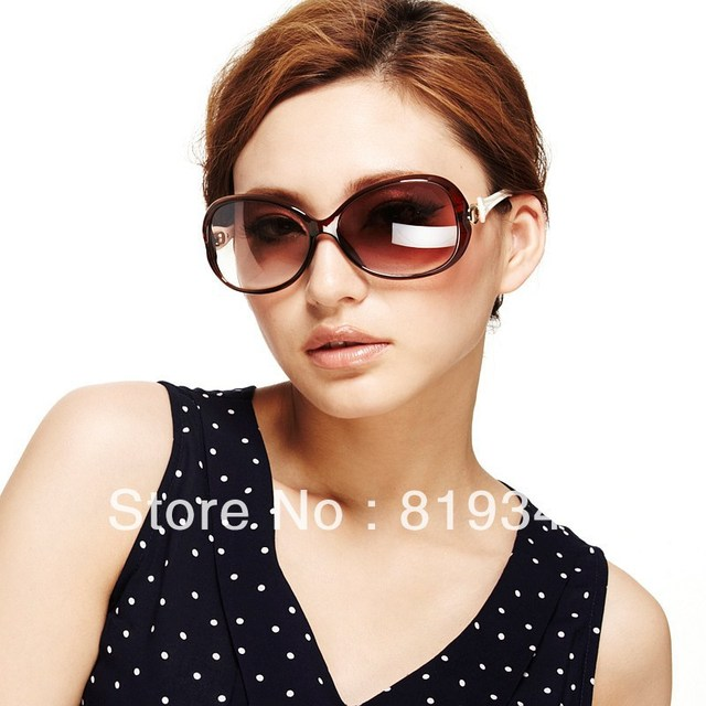 2013 New VANCL Women Sunglasses Ada Fashion Oversized Sunglasses Colored Frame Dark Tinted Lenses  Dark Brown FREE SHIPPING