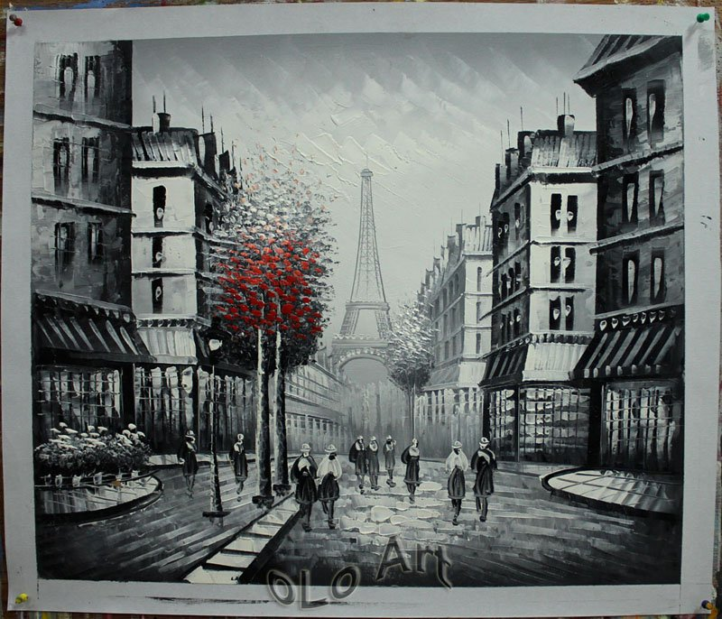 Black And White Paintings of The Eiffel Tower Eiffel Tower Black Amp White