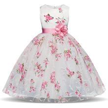Bebê Meninas Vestido Listrado Para Meninas Formais Vestidos de Festa de Casamento Crianças Princesa vestir traje de Natal para Crianças Meninas Roupas(China)