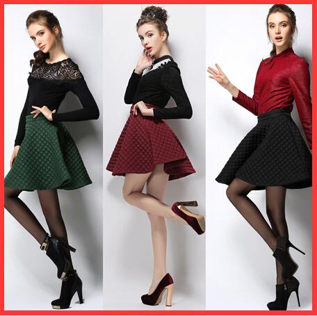 2015 plus size women skirt red/black/green cotton mini american apparel saias femininas - beautifulforever store