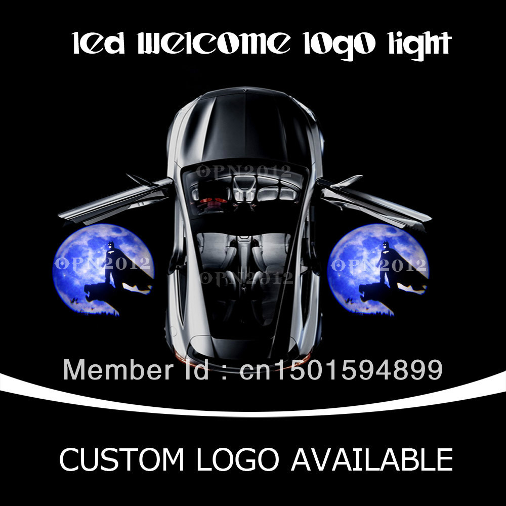 CREE Q5 Welcome Light Car Door LED Laser Projector Ghost Shadow Lamp For Moon Batman DC 12V For LINCOLN CORVETTE VW Dodge 1528(China (Mainland))