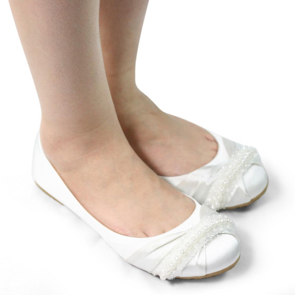 White womens wedding shoes