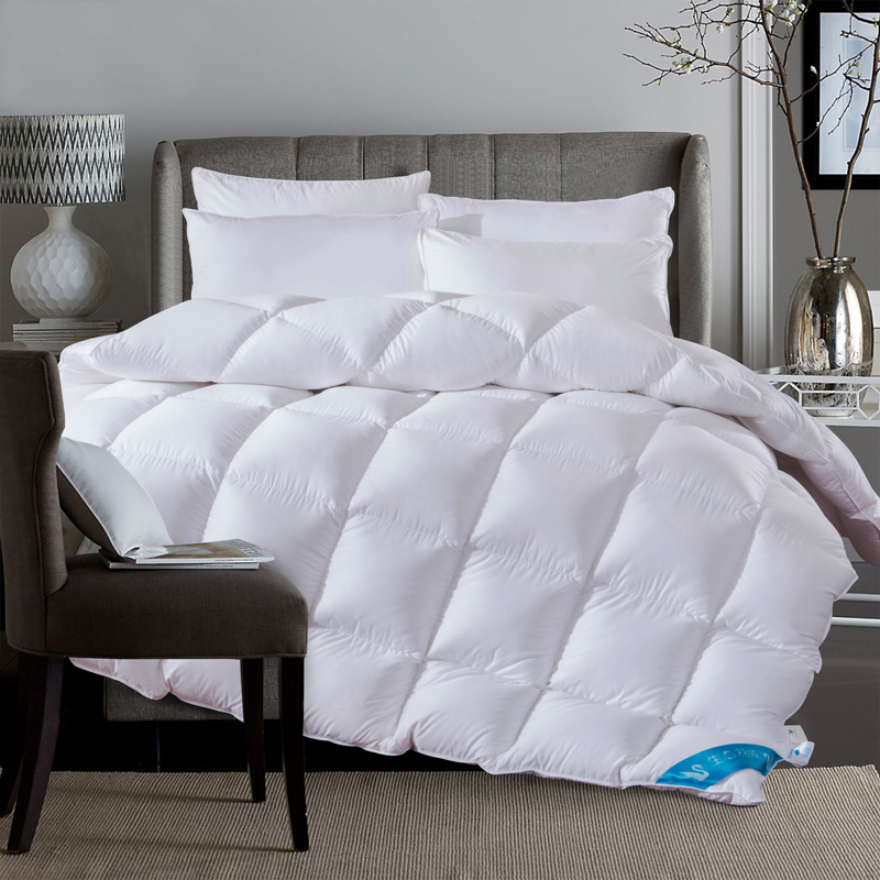 buy luxury white comforter 100 duck down king queen twin size duvet winter. Black Bedroom Furniture Sets. Home Design Ideas