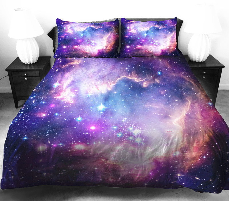 Galaxy bedding collections for girls teen bedding dorm for Outer space bedding