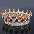 European Fashion brand baroque bride accessories Rhinestone tiara round Big crown Gem hair hoop accessories Wholesale
