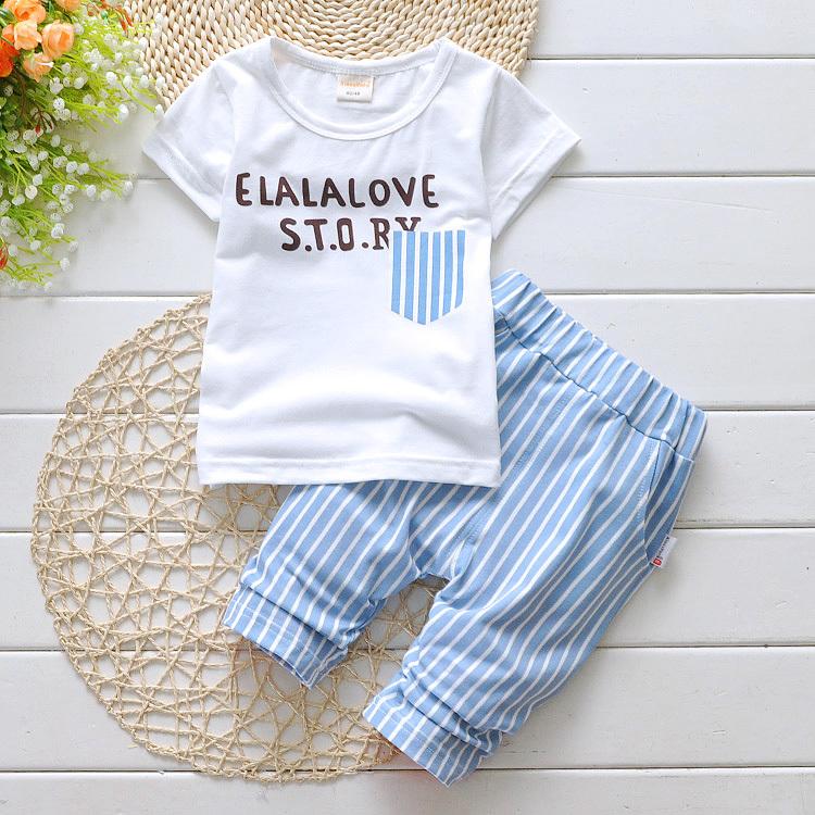 girl summer set baby kids children unisex boys girl short T shirt pants ccsports soft clothing set fashion school clothing(China (Mainland))
