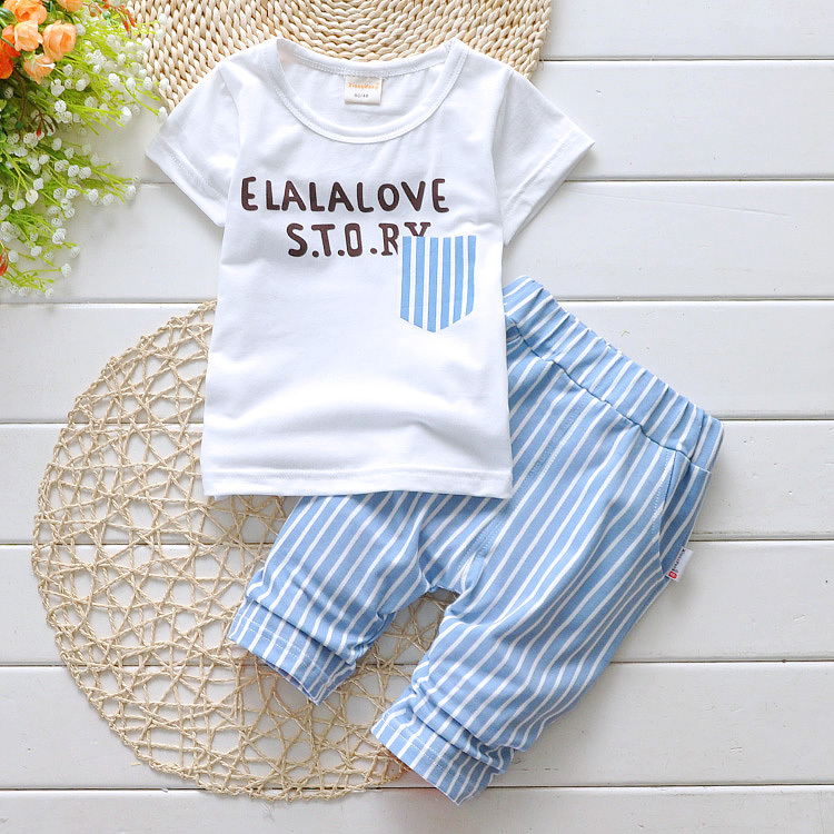 girl summer set baby kids children unisex boys girl short T shirt pants ccsports soft clothing set fashion school clothing(China (Mainland))