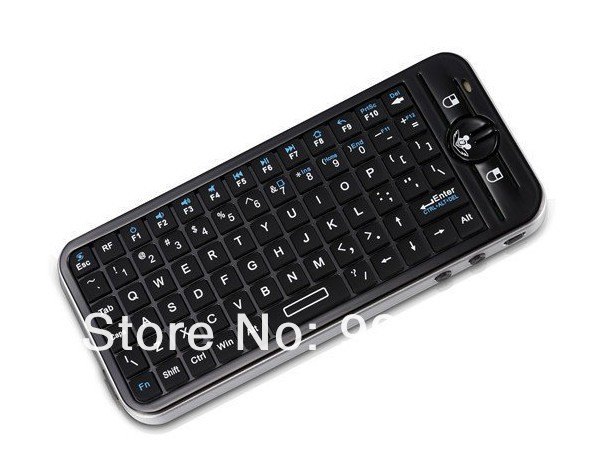Free Shipping!!iPazzPort 3D Gyroscope Fly Air Mouse Mini Wireless Keyboard For Andriod TV&PC -