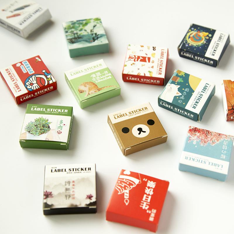 40 Pcs/box Mini Cartoon Paper Sticker Decoration Decal Diy Album Scrapbooking Seal Sticker Kawaii Stationery Gift Material Escol(China (Mainland))