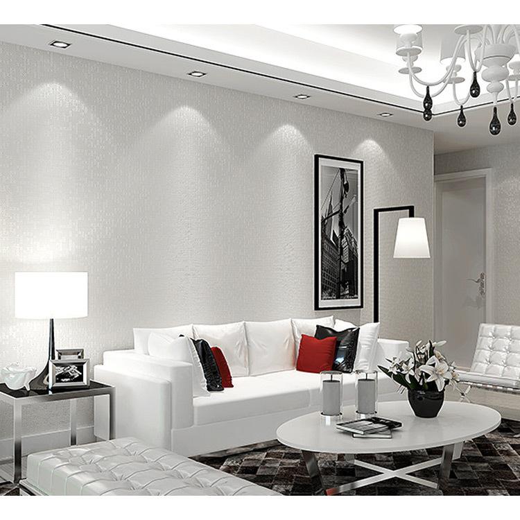 Modern Minimalist Living Room Wallpaper Plain Solid Color