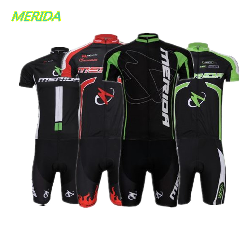 New MERIDA Team Cycling Bike Bicycle Clothing Clothes Women Men Cycling Jersey Jacket Cycling Jersey Top Bicycle Shirts(China (Mainland))