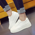 2017 spring new Korean leather small white shoes women with thick bottom students casual flat shoes