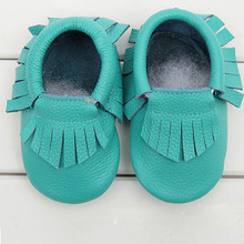 Free Shipping Feitong  Kids Tassel Soft Sole Leather Shoes Infant Boy Girl Toddler Moccasin(China (Mainland))