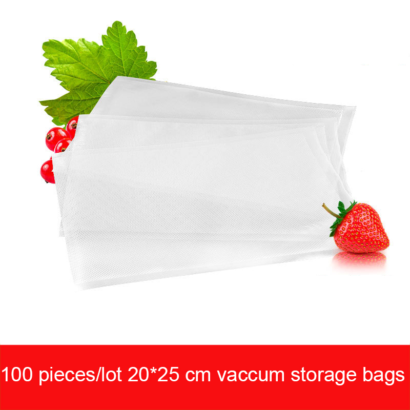 100 Pieces/lot 20*25 CM Food Vacuum Sealer Bags New Arrival Food Saver Storage Bags for Kitchen Vaccuum Packing Machine Packer(China (Mainland))
