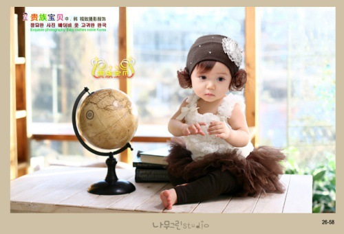 2015 super fashion 100 day old baby photography clothing(China (Mainland))