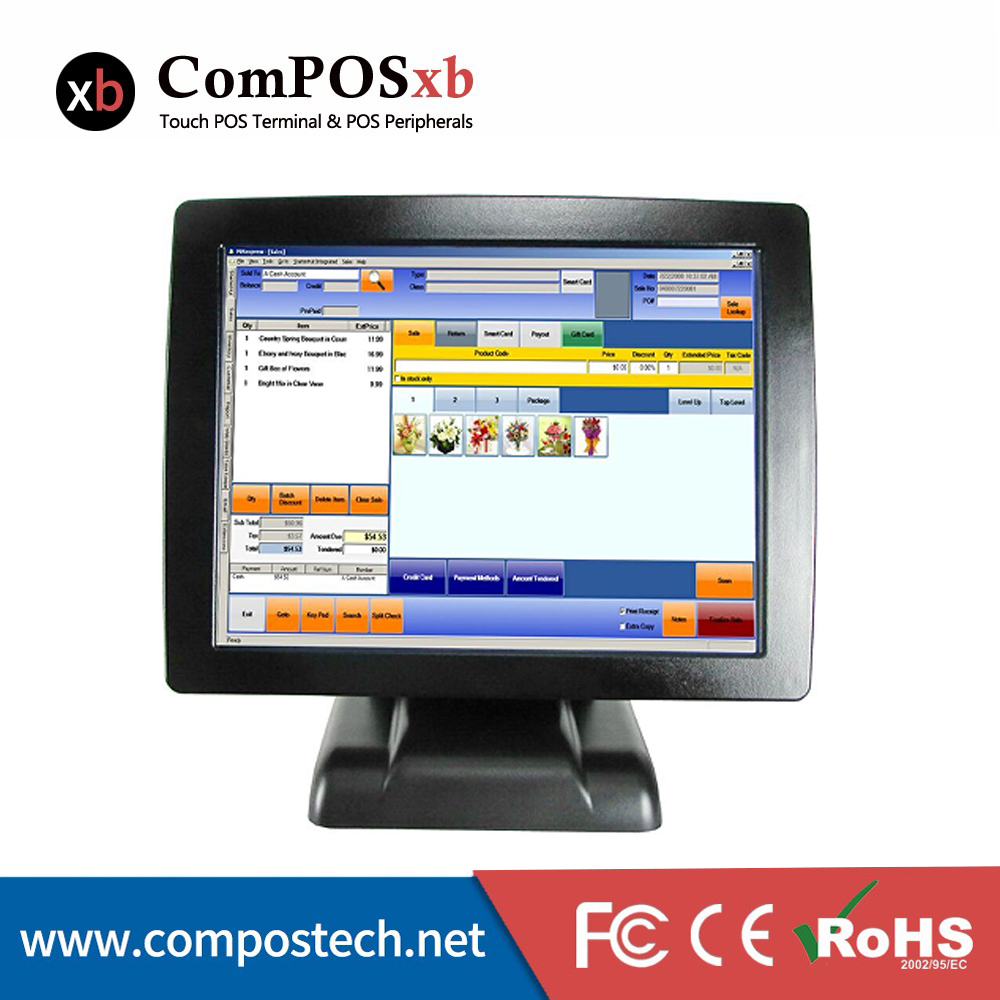 Free Shipping Pos Software Cheap Touch Screen Monitor All In One Pos Pc Point Of Sale Pos System POS2120(China (Mainland))