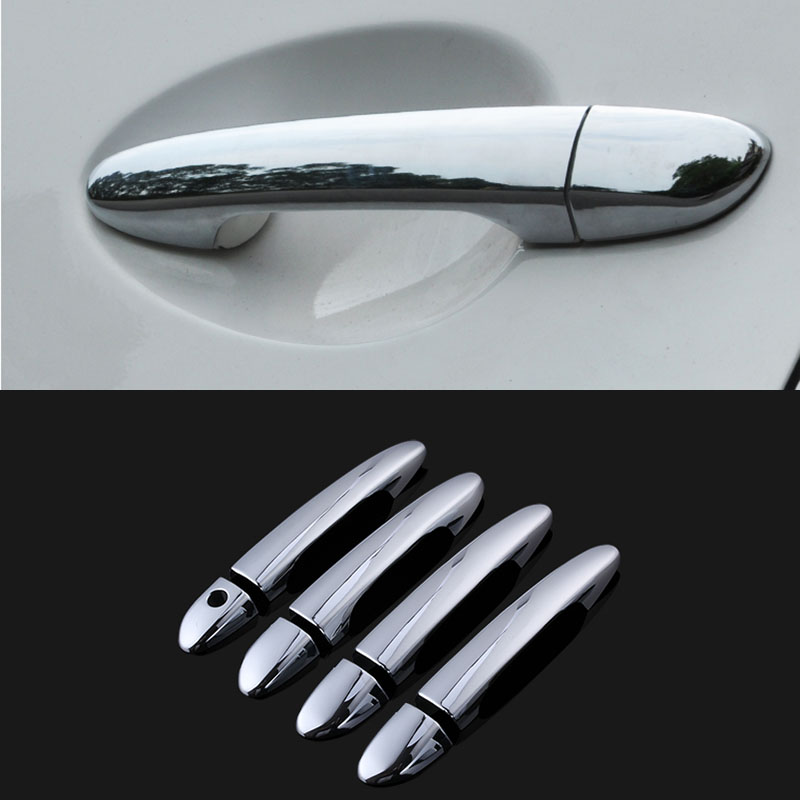 Accessories fit for 2010 2011 2012 mazda 2 3 6 chrome side door handle bar cover catch trim for 2010 mazda 3 interior door handle