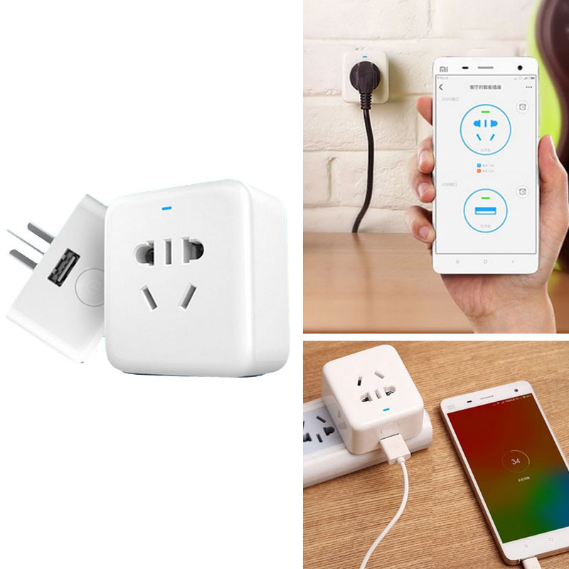 100% Original XiaoMi Smart plug WiFi Phone Wireless Remote Control Socket - SHENZHEN GULIA TECH. CO.,LTD store
