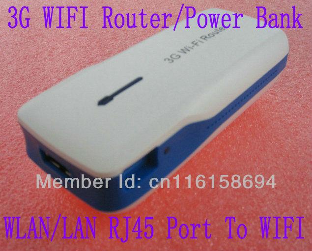 MINI 3G wifi Router / 5200MAH Mobile Power Bank WAN /LAN to wifi VJ-L9(China (Mainland))