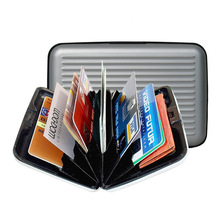 Men's Wallet Waterproof Business ID Credit Card Wallet Holder Aluminum Metal Pocket Case For Women Purses(China (Mainland))