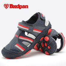 BEEDPAN 2016 New Genuine Leather Children sandals Kid Shoes boys sandal Breathable summer brand child sandale kids sandalet 338