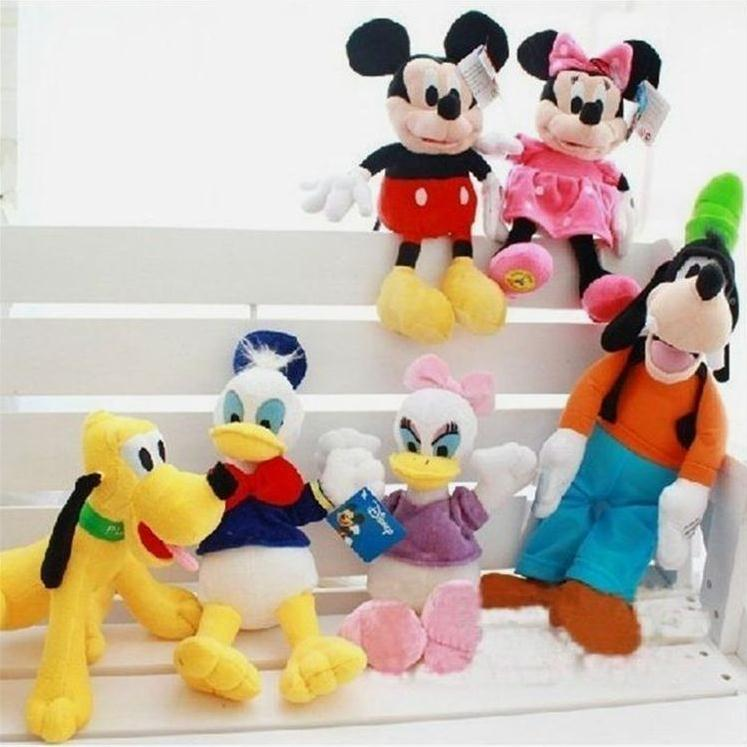 6 pcs/lot Disney Mickey Minnie Mouse Pluto A Goofy Movie Short plush toy doll lovers Baby Stuffed kids toys Preferred doll(China (Mainland))