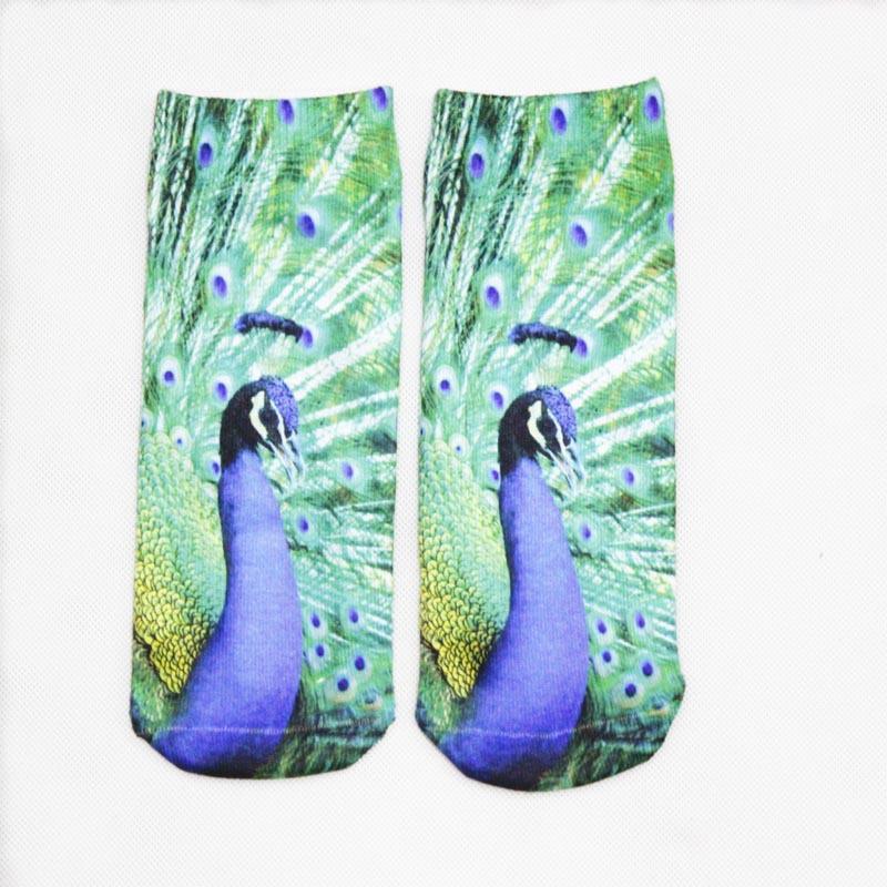 Harajuku Cute Short Socks Women 3D Print Animal Sock Casual Unisex Cartoon Low Cut Ankle Socks