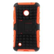 For Nokia Lumia 530 Case Anti-slip Grid PC and TPU Hybird Kickstand Hard Case for Nokia 530 Dual SIM Phone Case Free Shipping(China (Mainland))