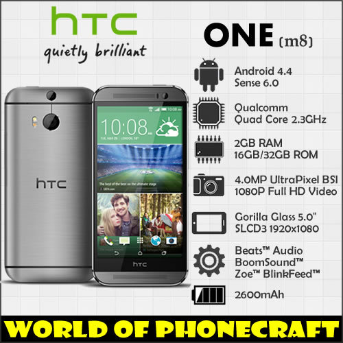 "HTC ONE M8 Quad Core 2G RAM 32G ROM 5"" Full HD 1920*1080 Android 4.4 Sense 6 three cameras 4G LTE 3D camera smartphones(China (Mainland))"