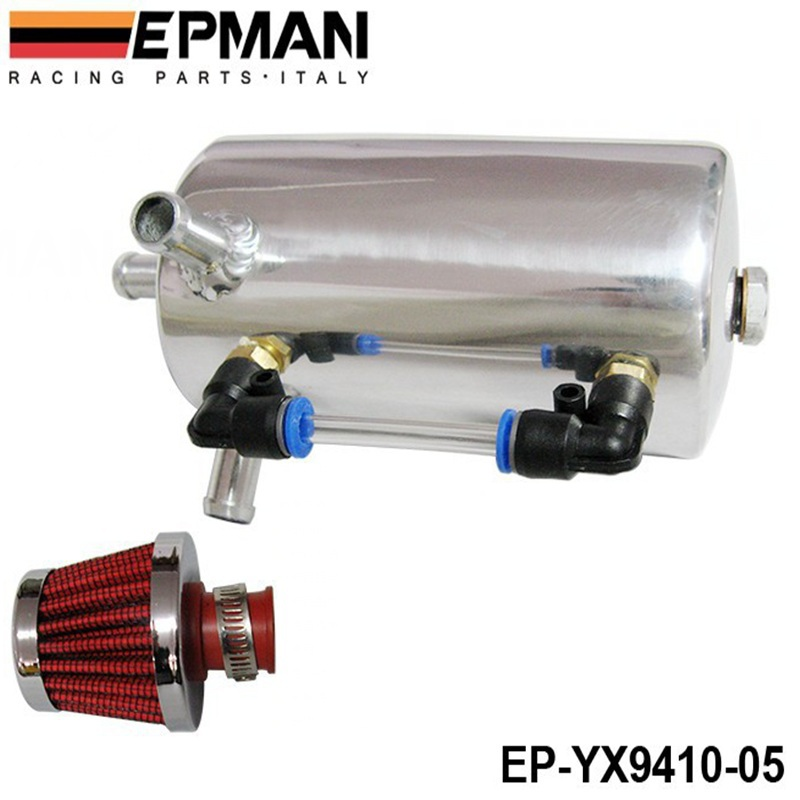 EPMAN UNIVERSAL BREATHER TANK&OIL CATCH CAN TANK WITH BREATHER FILTER ,0.5L EP-YX9410-05(China (Mainland))