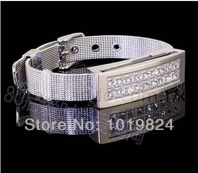 100% real capacityCrystal bracelet Strap diamond 8GB16GBUSB 2.0 Flash Memory Stick Drive Thumb/Car/Pen free shippingS200 28% off(China (Mainland))