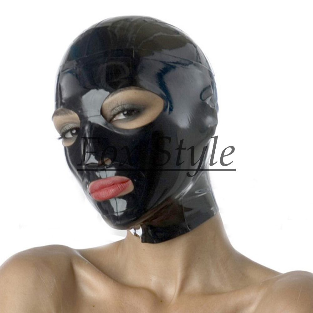 black latex hood back zip - Fox Style store