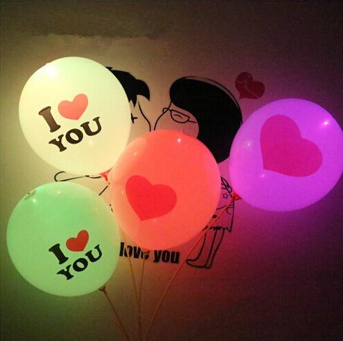 50pcs/lot Latex Flashing Balloon Led Light Printed Balloons Wedding Party Decoration Round Baloon,Ball Balloon With Battery(China (Mainland))
