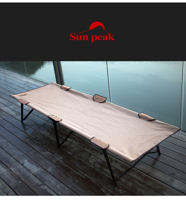 shipping free outdoor portable folding camp bed iron bed bed beach bed office lunch break fishing chair camp bed office