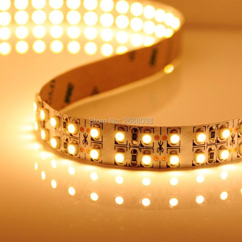 wfleds tiras de LED 12V SMD2835/3528 high brightness 240LEDs per meter 5 meters one roll LED-Streifenlicht dual row strip lights(China (Mainland))