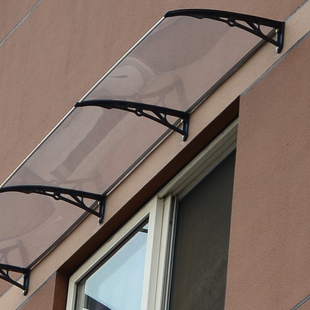 Outdoor canopy transparent awning polycarbonate panels for Balcony canopy
