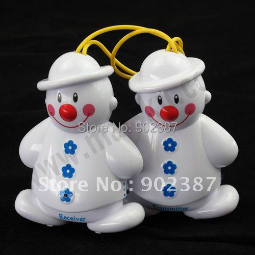 10pcs/lot Lovely Snowman Wireless Baby Cry Detector Monitor Watcher Alarm#1144(China (Mainland))