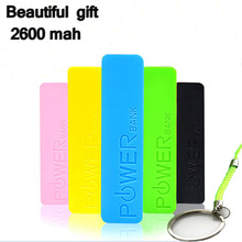 Beautiful practical gift 2600 mAh Mini Portable Power Bank External Battery Mobile Phone Powerbank Charger for iphone samsung
