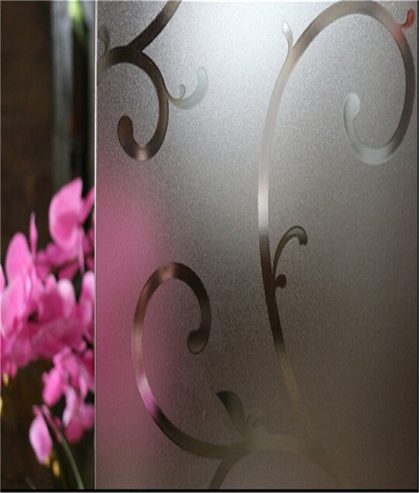 Decorative Glass Window Film Home Decor Sticker Embossing Flower Pattern Still Plants Privacy Bedroom Bathroom ST003 - LoveHome- Artist For Decoration store